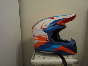 acerbis impact orange/blue crosshelm
