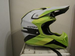 acerbis impact green/black crosshelm